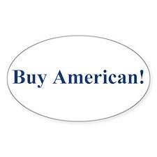 Buy American! Oval Sticker (10 pk)
