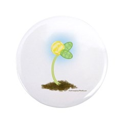 "Gold Coin Sprout 3.5"" Button"
