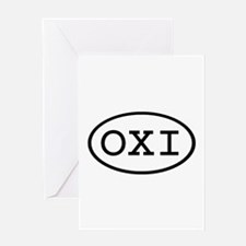 OXI Oval Greeting Card