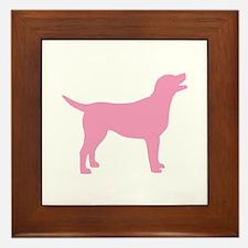 pink labrador retriever Framed Tile