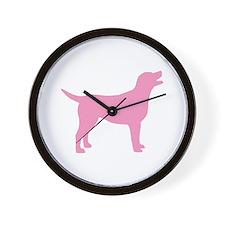 pink labrador retriever Wall Clock