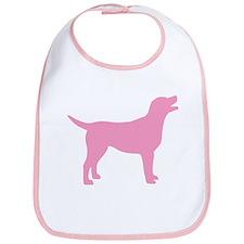 pink labrador retriever Bib