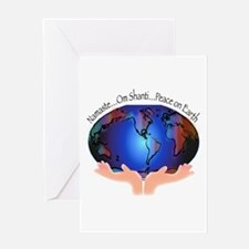 Om Shanti, Peace in the World Greeting Card