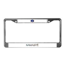 Om Shanti, Peace in the World License Plate Frame