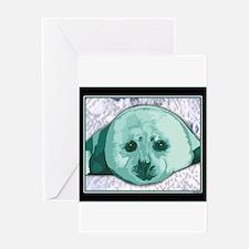 Baby Harp Seal art Greeting Card