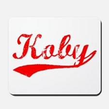 Vintage Koby (Red) Mousepad