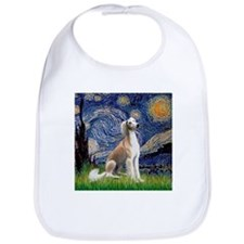 Starry Night & Fawn Saluki Bib