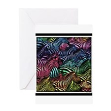 Zebra Artwork Greeting Card