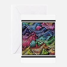Zebra Artwork Greeting Card