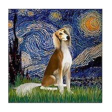 Starry Night & Saluki Tile Coaster