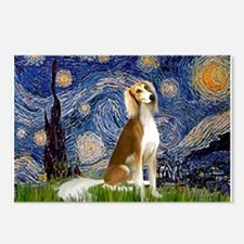 Starry Night & Saluki Postcards (Package of 8)