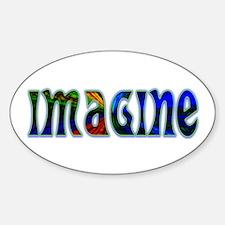 IMAGINE Oval Sticker (10 pk)