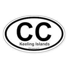 CC Keeling Islands Oval Decal