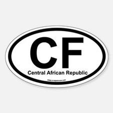 CF Central African Republic Oval Decal
