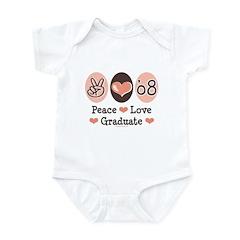 Peace Love 2008 Graduate Infant Bodysuit
