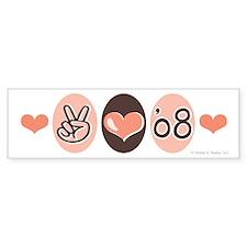 Peace Love 2008 Graduate Bumper Bumper Sticker