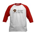 Evil monkey Kids Baseball Jersey