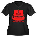 VBR4 Women's Plus Size V-Neck Dark T-Shirt