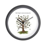 Water Your Money Tree Wall Clock
