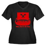 VBR5 Women's Plus Size V-Neck Dark T-Shirt