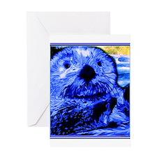 Otter Art Greeting Card