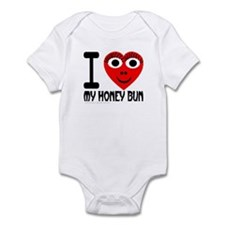 I (Heart) My Honey Bun Infant Creeper