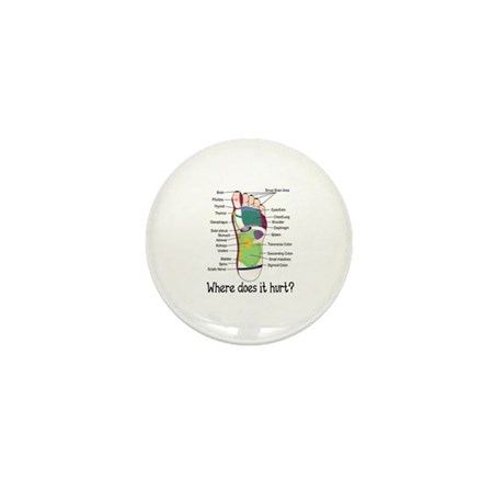 foot 1 Mini Button (100 pack)