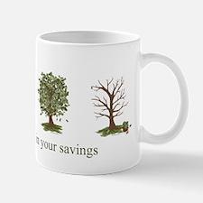 Take an Interest in Your Savings Money Tree Mug