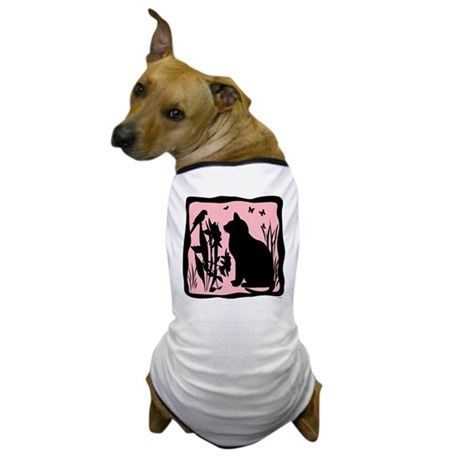 SPRING KITTY SILHOUETTE Dog T-Shirt