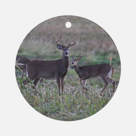 Buck and doe 2 Ornament (Round)