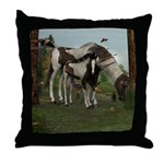 Painted Horse and Foal Throw Pillow