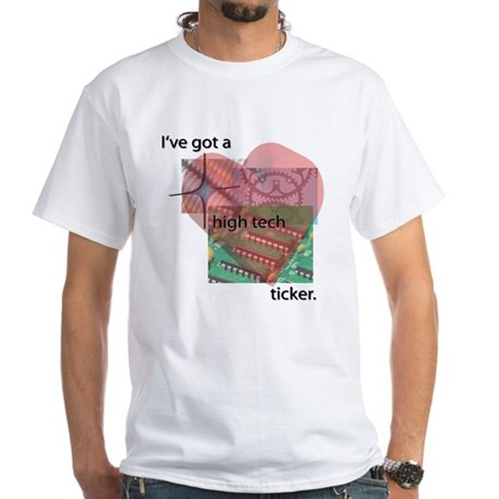 High Tech Ticker White T-Shirt