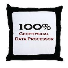 100 Percent Geophysical Data Processor Throw Pillo