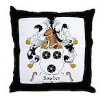 Sauber Family Crest Throw Pillow