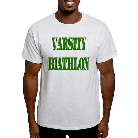 Varsity Biathlon Ash Grey T-Shirt
