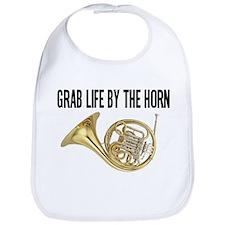 Cute French horn Bib