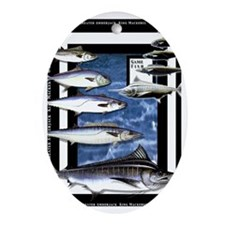 Game Fish Art Oval Ornament