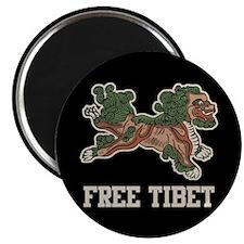 Snow Lion Free Tibet Magnet