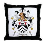 Sanders Family Crest Throw Pillow