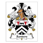 Sanders Family Crest Small Poster
