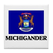 Michigander Tile Coaster