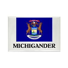 Michigander Rectangle Magnet