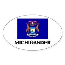 Michigander Oval Decal