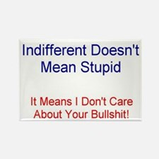 Indifferent doesn't mean studpid Rectangle Magnet