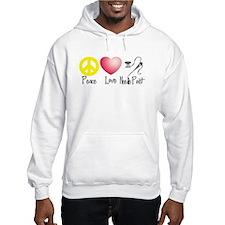 Peace, Love, Needlepoint Hoodie