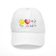 Peace, Love, Needlepoint Baseball Cap
