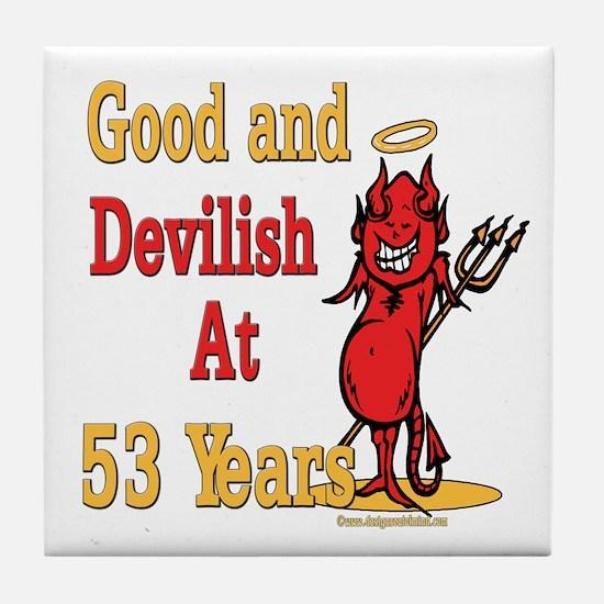 Devilish at 53 Tile Coaster