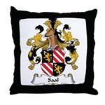 Saal Family Crest Throw Pillow