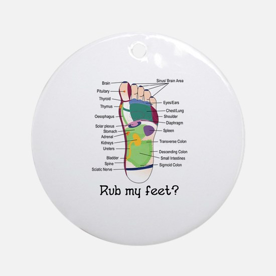 foot 1 Ornament (Round)