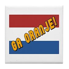 Ga oranje Flag Tile Coaster